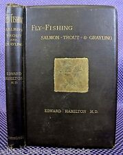 FLY FISHING SALMON TROUT 1884 Illustrated FISH Tackle LURE Reel ANGLING Woodcuts