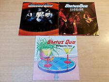 "Status Quo/3x Vertigo 7"" Single/Marguerita Time/Caroline Live/Accident Prone"