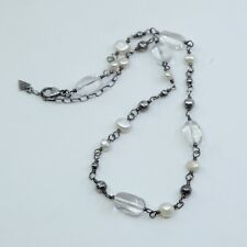 Silpada - N1602 Freshwater Pearl, Crystal and Sterling Silver Bead Necklace
