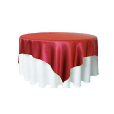 """89"""" Big Square Satin Tablecloth Cover Overlay Fabric Wedding Birthday Party"""