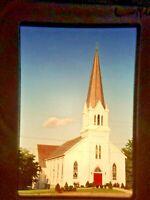II18 ORIGINAL SLIDE New York 35mm CHURCH IN ALTAMONT NY