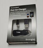 Kensington K39667AM PowerBolt Black PowerBolt 4.2 Fast Car Charger for Tablet