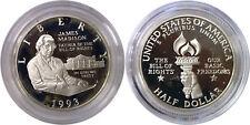 1993-S 50C James Madison Bill Of Rights Silver Half Dollar Proof