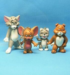 TOM und JERRY 2. Serie komplett SCHLEICH 1981 : 4 Figuren Tom Jerry Spike Junior
