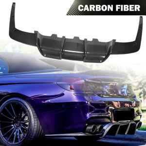 Fits BMW F06 F12 F13 M6 2013-2018 Rear Bumper Lip Diffuser Splitter Carbon Fiber