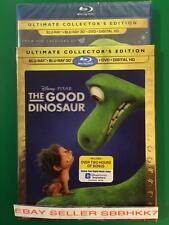 THE GOOD DINOSAUR BLU RAY 3D + BLU RAY + DVD & HD & LENTICULAR SLIPCOVER NEW