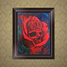 DIY 5D Diamond Embroidery Skull Flower Painting Cross Stitch Home Decor Craft