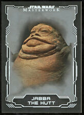 Star Wars 2016 Masterworks Silver Parallel Card #13 Jabba the Hut 03/99
