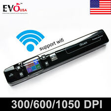 iSCAN 1050DPI Wifi LCD Portable Handheld Scanner Book Document Photo Handyscan
