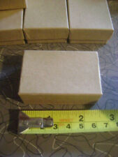 Lot 60 Kraft Brown Paper Jewelry Boxes Ring Gift 2.5 x 1.5 x 1 Includes Insert