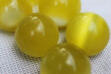 (1) Yellow Fiber Optic Mineral Marble Sphere 19-21mm (LISTING IS FOR 1 SPHERE!)