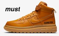 """Nike Air Force 1 GTX """"Flax/Wheat/Gum Light Brown/Flax"""" Mens Boots All Sizes."""
