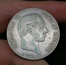 Denmark Silver 2 Kroner 1875 Good Coin (11)