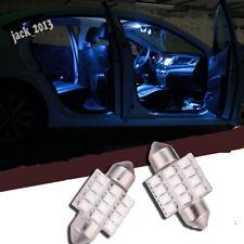 Blue 31mm 12V C5W 12SMD 12Led Festoon Dome LED Interior Reading Lights Bright