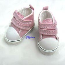 Yo-SD bjd Doll Shoes 2 Strap Denim Boots PINK (for Foot 4.5cm long)