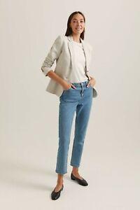 Sportscraft Frida Neutral Linen Blazer Size 12 NWT RRP$329