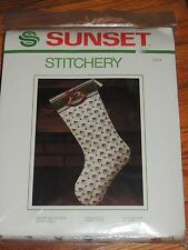 """SUNSET STITCHERY ROCKING HORSE STOCKING KIT #2024 EMBROIDERY QUILTED 18"""""""