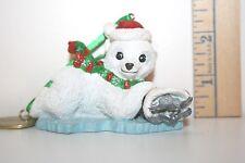 Danbury Mint Smithsonian National Zoo Wild Baby Glitter Ornament - Polar Bear