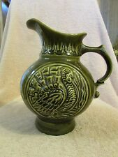 1968 MCP McCOY Pottery USA Olive Green Mid Century Turkey Pitcher