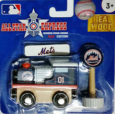 New York Mets Wooden Train Engine MLB Brio & Thomas compatible NEW 10120