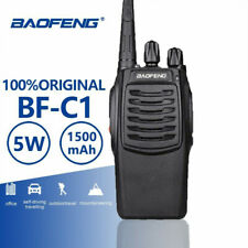 Baofeng BF-C1 Walkie Talkie UHF 5W Black Portable Radio 1-8KM Distance