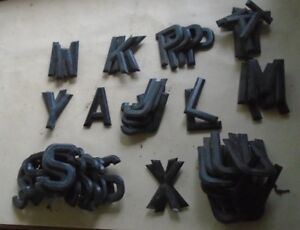 """ACE  NUMBER PLATE DIGITS / LETTERS  3 1/8""""  - NEW OLD STOCK,"""