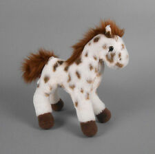 "New DOUGLAS TOY Plush Earth Brown Appaloosa Horse 9"" White with Brown Spots"