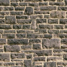 7  SHEETS  stone wall 20x28cm  OO  Embossed BUMPY LANDSCAPE PAPER  b7y6