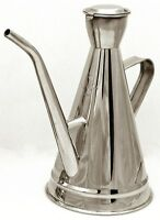 Portuguese 0.5l olive oil can dispenser drizzler pourer stainless steel NEW