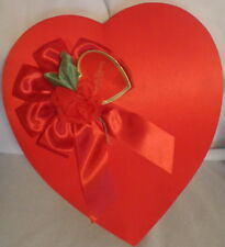 Valentine Heart Candy Box Russell Stover Chocolate Red Satin Gift Love Usa
