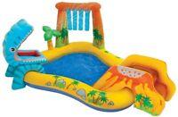 Intex 57444 piscina gonfiabile Dinsauro cm 249x191x109 per bambini da giardino