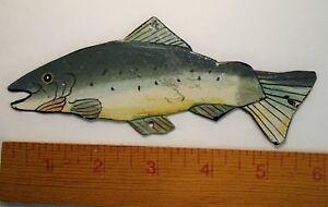 RARE Vintage c 1920s Spearing  Ice Fishing Decoy Lure -  Metal  Folk Art? Fish
