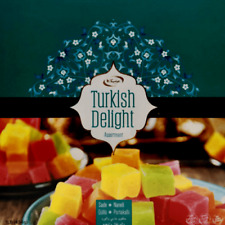 Türkish Delight les loukoums seyidoglu früchtemix _ rose _ Menthe - _ ORANGE/meyveli les loukoums 454 G