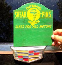 Vintage Outboard Boat MotorShear Pin Wood Sign Gasoline Oil
