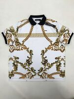 Hudson Outerwear White Gold Filigree Collared Mens 4XL Nice New