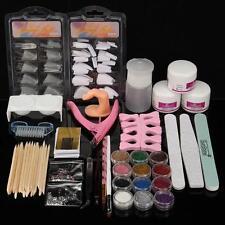 DIY Acrylic Powder Glitter Nail Brush False Finger Pump Nail Art Tools Kit  A
