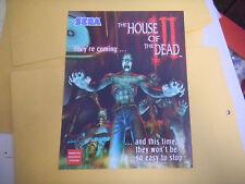 HOUSE OF THE DEAD  3 III  sega ARCADE   GAME  FLYER