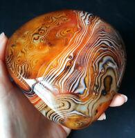 TOP 400G Natural Polished Banded Agate Crystal Madagascar Healing WQ580
