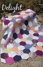 Delight Quilt Pattern ~ Julie Herman ~ Hexagons ~ uses Jaybird Hex N More ruler