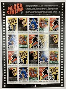 2008 #4336-4340 Vintage Black Cinema; Mint Sheet of Twenty 42¢ Stamps