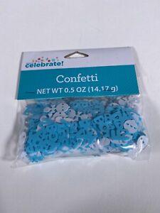 Way To Celebrate! It's A Boy Confetti 0.5 oz Blue White Pregnancy Gender Reveal