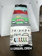 FRIENDS Mens Socks 6-Pack Casual Crew Fits Shoe Size 8-12 Bioworld NEW TV Series