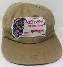 Rare Vtg Ernest Jim Varney Hey Vern Convenient Mart Baseball Hat Cap 1980s