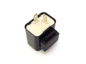 Emgo Suzuki OEM 12V Turn Signal Flasher Relay - 2 Prong Square Style - 66-86752