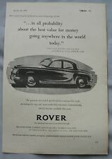 1957 Rover Original advert No.1
