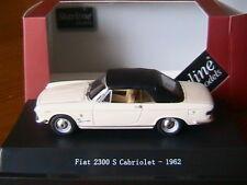 FIAT 2300 S CABRIOLET CLOSED 1962 WHITE STARLINE 560511 1/43 CONVERTIBLE CAPOTE