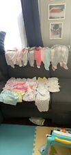 Gently used newborn baby girl clothes Newborn-3 months lot