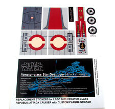 REPLACEMENT STICKERS for Lego 8039 VENATOR-CLASS ATTACK CRUISER, MODELS, ETC