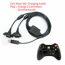 2M 6FT USB Charging Cable 2in1 Play&Charge Cable for Xbox 360 Controller Pad