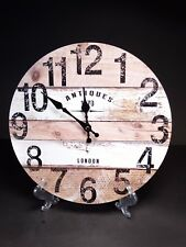Vintage Style Wooden Hanging Wall Clock  -  Antiques London